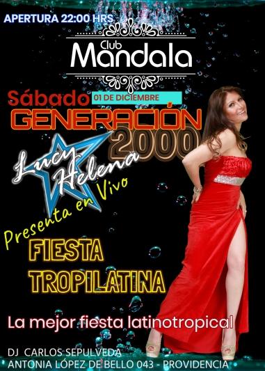 AFICHE CLUB MANDALA 01 DIC.